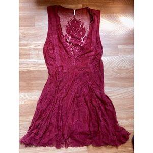 Free people boho lacy dress